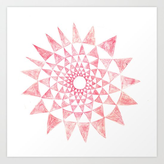 mandala:triangles Art Print