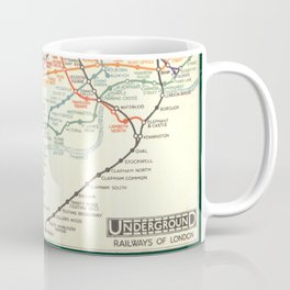 Vintage London Underground Map Coffee Mug