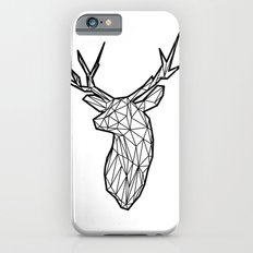 Black Line Faceted Stag Trophy Head iPhone 6s Slim Case