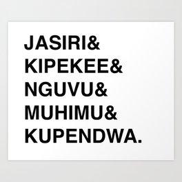 Fierce Kids for Rafiki Mwema Art Print