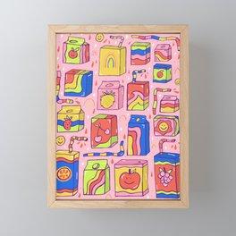 Juice Box Print Framed Mini Art Print