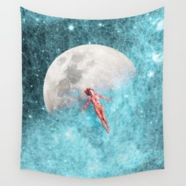 FLOATING TO THE MOON Wall Tapestry