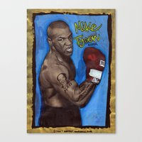 mike tyson Canvas Prints featuring Mike Tyson by Ibbanez