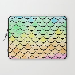 Ombre Rainbow mermaid Laptop Sleeve