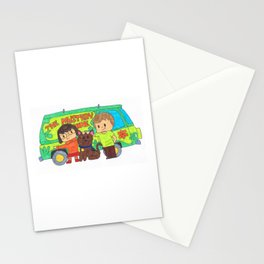 Sleuth Couple and Dog Stationery Cards