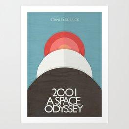 2001 a Space Odyssey - Stanley Kubrick ,Movie Poster, minimal version, vintage, retro Art Print