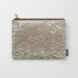 Vintage Pictorial Map of Birmingham England (1923) Carry-All Pouch