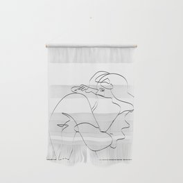 Couple continuous line draw Wall Hanging
