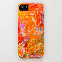 Abstract with Circle in Gold, Red, and Blue iPhone Case