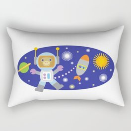 Space Chimp Astronaut Monkey Rectangular Pillow