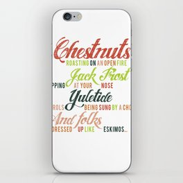Christmas Song iPhone Skin