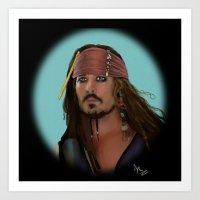 jack sparrow Art Prints featuring Jack Sparrow by Arkady
