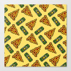 Pizza & Beer Love Canvas Print
