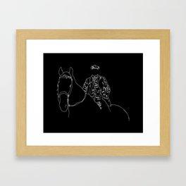 Horse and Fashion Noir Framed Art Print