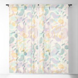 Dotted Blobs #society6 #abstractart Blackout Curtain