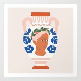 Greek Goddess Vase Art Print