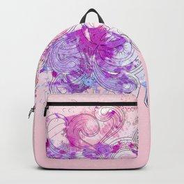 Purple floral swirls Backpack