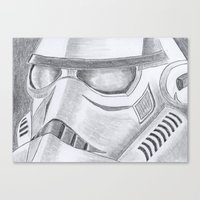 storm trooper Canvas Prints featuring Storm trooper by Mike Hermes