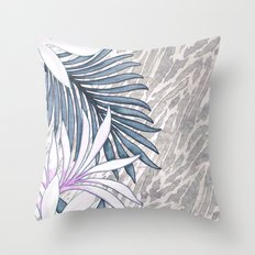 Denim Blooms Forever Throw Pillow