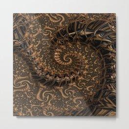 Gold Mine Spiral Metal Print