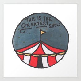 Greatest Show (Night) Art Print