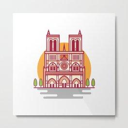 Notre-Dame, Paris Landmark Metal Print