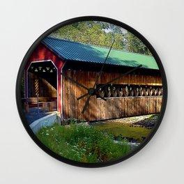 Massachusetts - Ware-Hardwick Covered Bridge Wall Clock