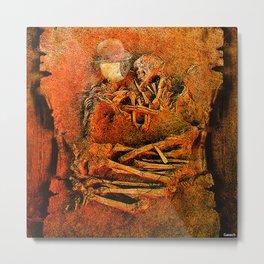 Goodnight Monsieur Bone Metal Print