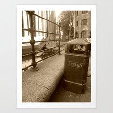 London Trash Talk Art Print