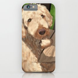 Riley the Golden Doodle iPhone Case