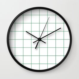 Graph Paper (Olive & White Pattern) Wall Clock