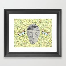 poor skeleton steps out Framed Art Print