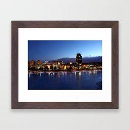 City on the Rocks Framed Art Print