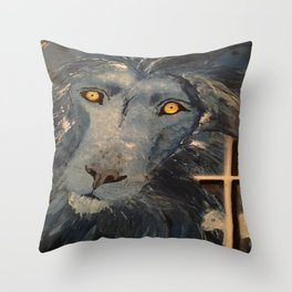 Lion and the Lamb Throw Pillow