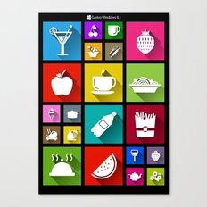 Gastro Windows 8.1 Canvas Print