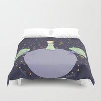 the little prince Duvet Covers featuring The little prince by Pendientera