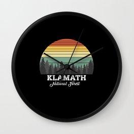 KLAMATH CALIFORNIA Wall Clock