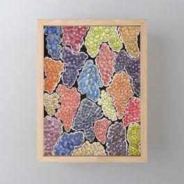 Grapes for wine lovers, gastronomy and restaurants Framed Mini Art Print