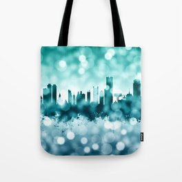 Boston Massachusetts Skyline Tote Bag