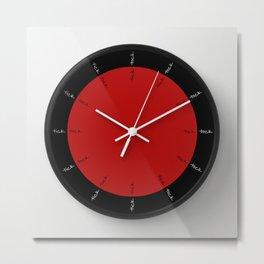 tick tock ~ color option red Metal Print