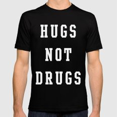 Hugs Mens Fitted Tee SMALL Black