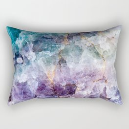 Turquoise & Purple Quartz Crystal Rectangular Pillow