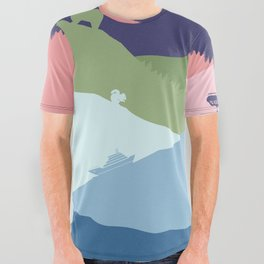 Vancouver Landscape All Over Graphic Tee