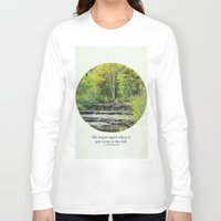 fitzgerald Long Sleeve T-shirts featuring fall leaves + f scott fitzgerald by lissalaine