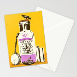 MUSIC IS MEDICINE Stationery Cards