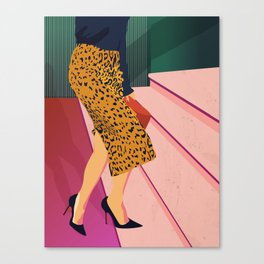 Just steppin' in, and you`re gonna hear me Roar - Fashion illustration Canvas Print