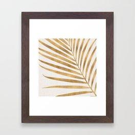 Metallic Gold Palm Leaf Framed Art Print