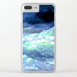 Among the waves (1898) Clear iPhone Case