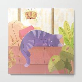Afternoon cat nap Metal Print