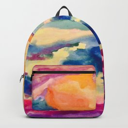 My Starry Watercolor Night Backpack